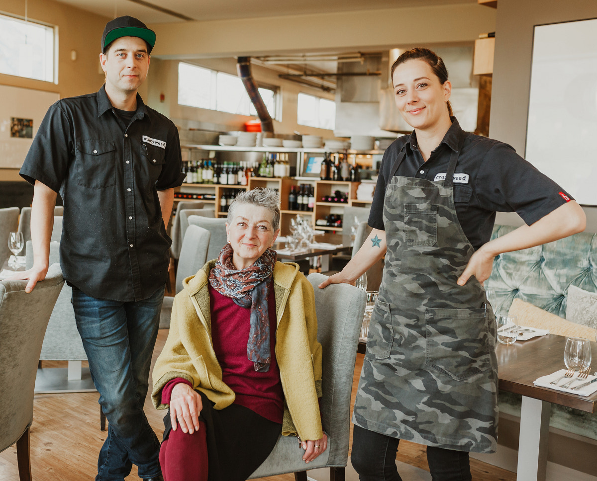 Eden & Whyatt Hrabec, cofounders and chefs at Crazyweed Kitchen, in Canmore Alberta